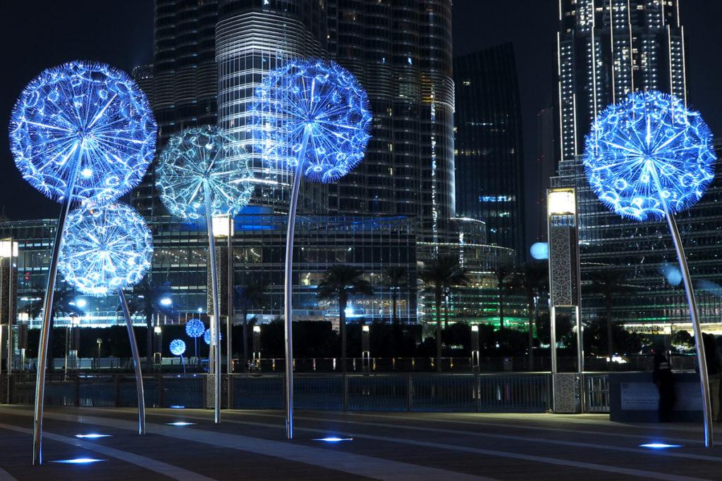 Dandelion Lights At Burj Khalifa Park Dubai Art In Public